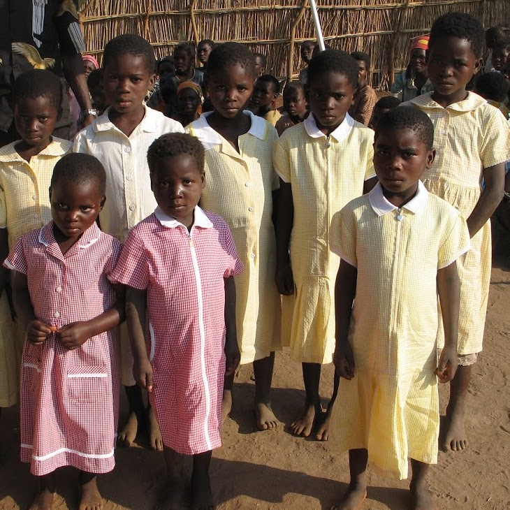 New dresses for the orphans