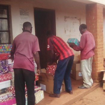 chinthowa development Trust preparing to give out xmas boxes