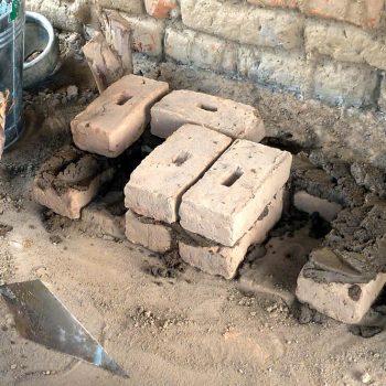 26 bricks needed to build stove