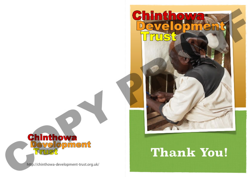 Thank you card £15