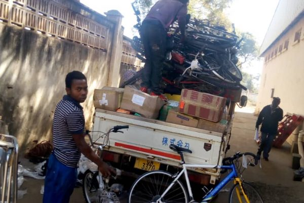 Loading up the truck for the journey back to Chinthowa.