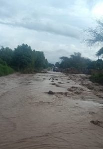 Floods hit the Chinthowa Area.